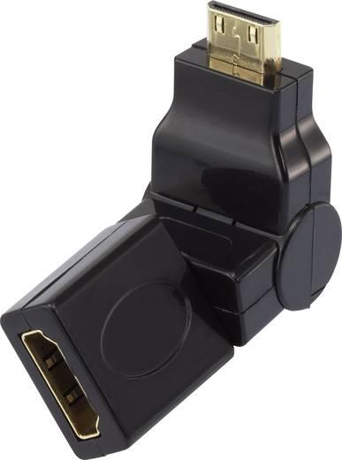 SpeaKa Professional HDMI Adapter [1x HDMI-Stecker C Mini - 1x HDMI-Buchse] Schwarz vergoldete Steckkontakte