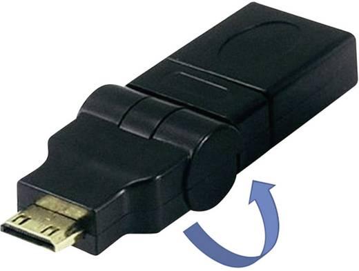 HDMI Adapter [1x HDMI-Stecker C Mini - 1x HDMI-Buchse] Schwarz vergoldete Steckkontakte SpeaKa Professional