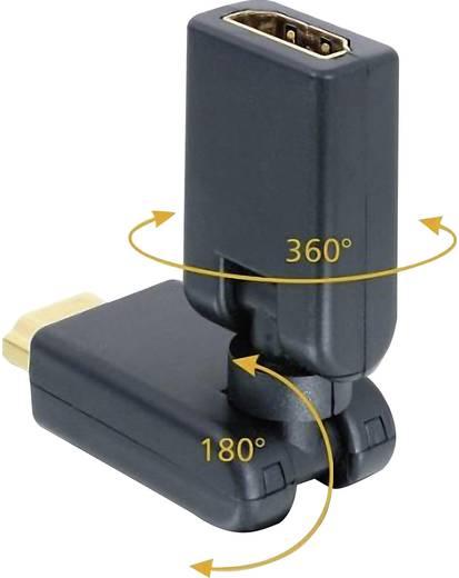 SpeaKa Professional HDMI Adapter [1x HDMI-Stecker - 1x HDMI-Buchse] Schwarz vergoldete Steckkontakte