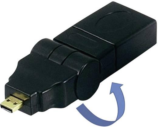 HDMI Adapter [1x HDMI-Stecker D Micro - 1x HDMI-Buchse] Schwarz vergoldete Steckkontakte SpeaKa Professional