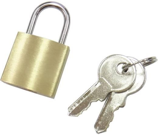 110496 Vorhängeschloss 21 mm Messing Schlüsselschloss