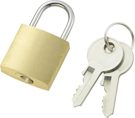 Vorhängeschloss 21 mm 110496 Messing Schlüsselschloss