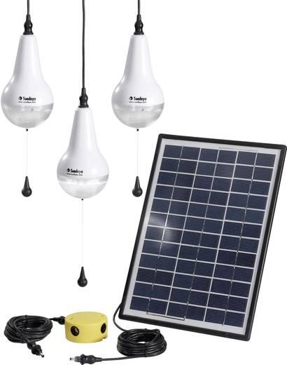 Solar-Set mit 3 Lampen, inkl. Anschlusskabel Sundaya Ulitium 200 Lightkit 3 303207 Leistung 9 Wp