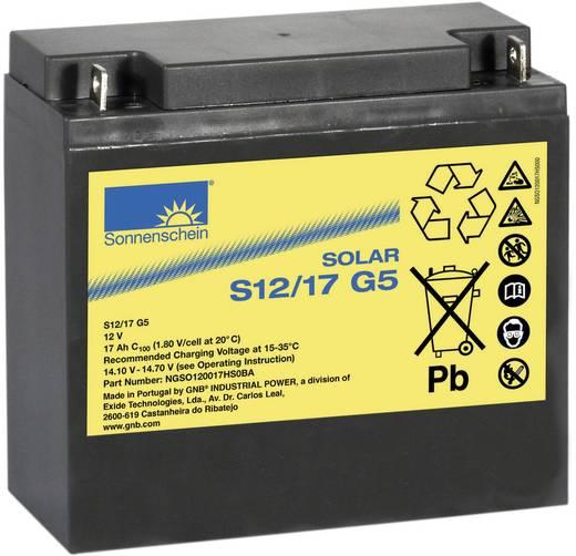 Solarakku 12 V 17 Ah GNB Sonnenschein dryfit S12/17 G5 985006 Blei-Gel (B x H x T) 181 x 167 x 76 mm M5-Schraubanschluss