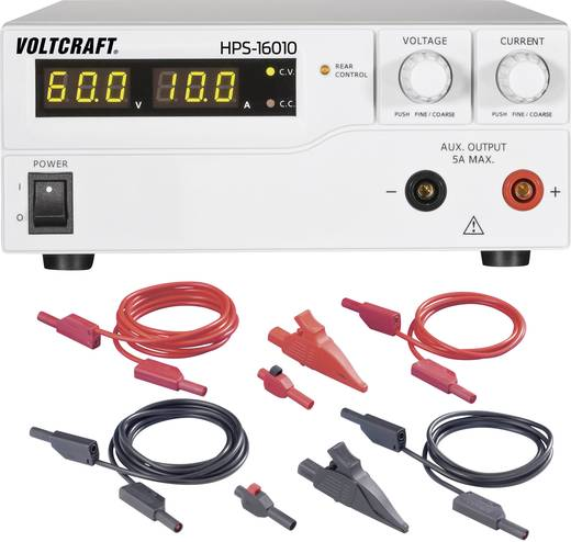 Labornetzgerät, einstellbar VOLTCRAFT HPS-16010 1 - 60 V/DC 0 - 10 A 600 W Remote programmierbar Anzahl Ausgänge 1 x