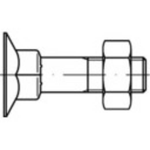 Senkschrauben mit Vierkantansatz M10 50 mm Außensechskant Stahl 100 St. TOOLCRAFT 111753