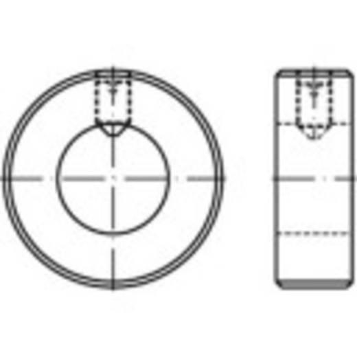 Stellringe Außen-Durchmesser: 80 mm M10 DIN 705 Stahl galvanisch verzinkt 1 St. TOOLCRAFT 112500