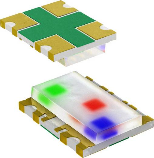 Panasonic LNJ757W86RA SMD-LED SMD-4 Rot, Grün, Blau 30 mcd, 90 mcd, 15 mcd 5 mA 1.9 V, 3 V, 2.95 V