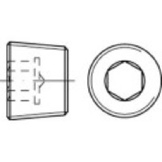 Verschlussschrauben 1/4 Zoll Innensechskant DIN 906 Stahl galvanisch verzinkt 100 St. TOOLCRAFT 112673