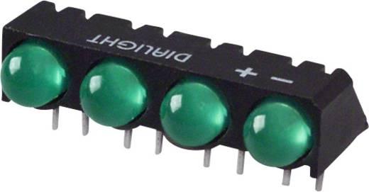 LED-Reihe Grün (L x B x H) 25 x 12.41 x 9.6 mm Dialight 550-0207-004F