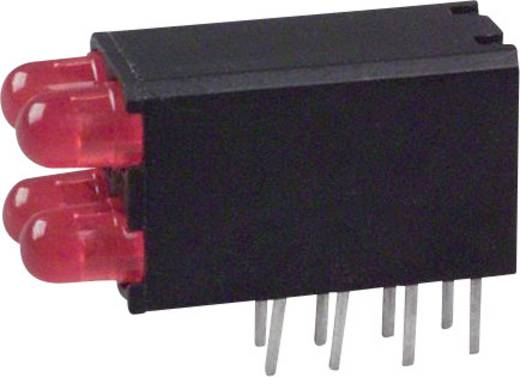 LED-Baustein Rot (L x B x H) 18.54 x 12.57 x 6.6 mm Dialight 569-0101-111F
