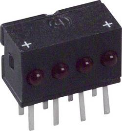 Rangée de LEDs Dialight 555-4007F rouge (L x l x h) 10.29 x 10.03 x 6.22 mm 1 pc(s)