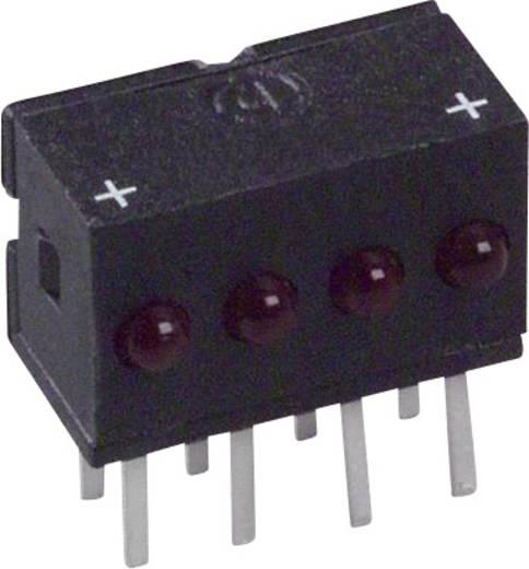 LED-Reihe Rot (L x B x H) 10.29 x 10.03 x 6.22 mm Dialight 555-4007F