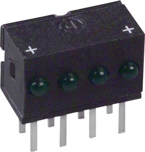LED-Reihe Grün (L x B x H) 10.29 x 10.03 x 6.22 mm Dialight 555-4303F