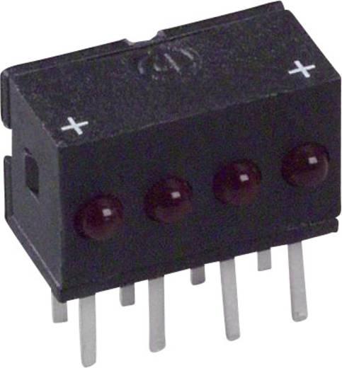 LED-Reihe Rot (L x B x H) 10.29 x 10.03 x 6.22 mm Dialight 555-4001F