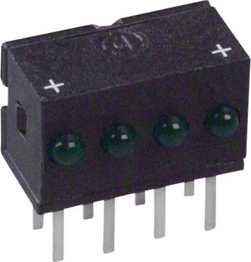 LED-Reihe Grün (L x B x H) 10.29 x 10.03 x 6.22 mm Dialight 555-4301F