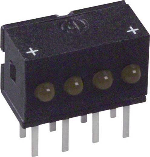 LED-Reihe Gelb (L x B x H) 10.29 x 10.03 x 6.22 mm Dialight 555-4401F