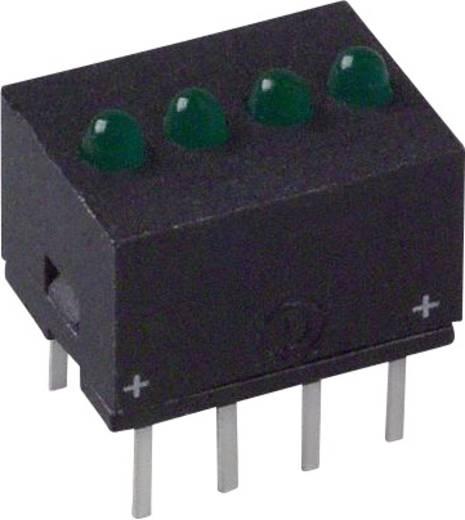 LED-Reihe Grün (L x B x H) 10.29 x 10.17 x 7.77 mm Dialight 555-5301F