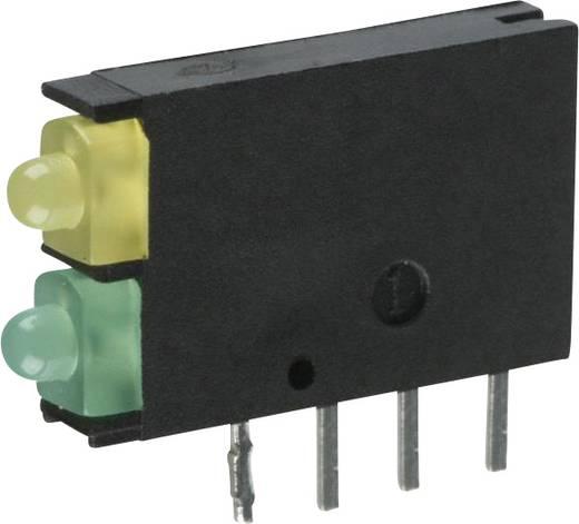 LED-Baustein Grün, Gelb (L x B x H) 15.24 x 11.6 x 2.5 mm Dialight 571-0132F