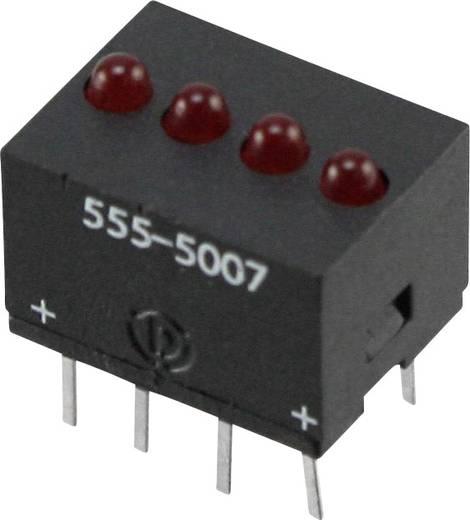LED-Reihe Rot (L x B x H) 10.29 x 10.17 x 7.77 mm Dialight 555-5007F