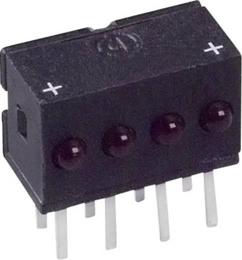 LED-Reihe Rot (L x B x H) 10.29 x 10.03 x 6.22 mm Dialight 555-4009F