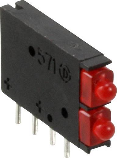LED-Baustein Rot (L x B x H) 15.45 x 11.61 x 2.5 mm Dialight 571-0111-100F
