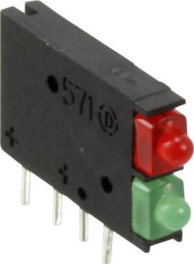 LED-Baustein Grün, Rot (L x B x H) 15.24 x 11.6 x 3.77 mm Dialight 571-0112-100F