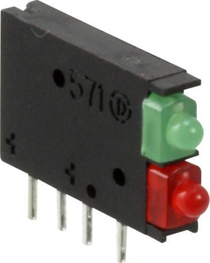 LED-Baustein Grün, Rot (L x B x H) 15.24 x 11.6 x 2.48 mm Dialight 571-0121F