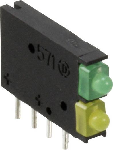 LED-Baustein Grün, Gelb (L x B x H) 15.42 x 11.6 x 2.48 mm Dialight 571-0123F