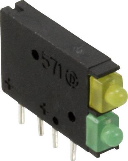 LED-Baustein Grün, Gelb (L x B x H) 15.45 x 11.61 x 2.5 mm Dialight 571-0132-100F