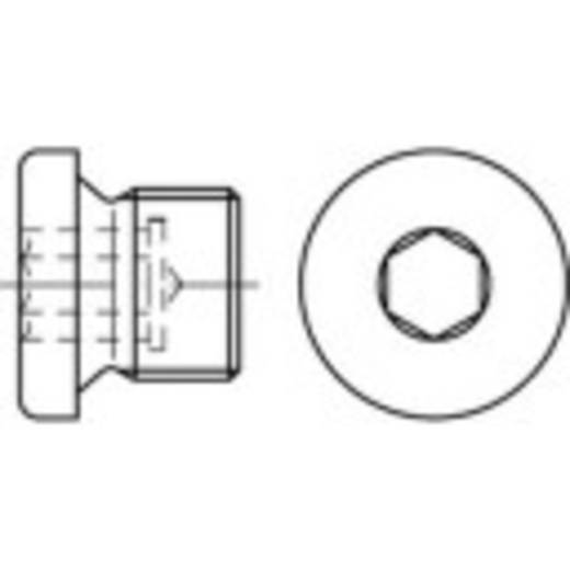 TOOLCRAFT 112730 Verschlussschrauben M18 Innensechskant DIN 908 Stahl galvanisch verzinkt 100 St.