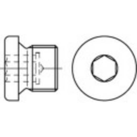 Verschlussschrauben 1/8 Zoll Innensechskant DIN 908 Stahl galvanisch verzinkt 100 St. TOOLCRAFT 112741