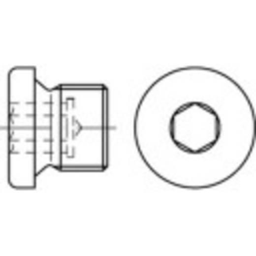 Verschlussschrauben 3/8 Zoll Innensechskant DIN 908 Stahl galvanisch verzinkt 50 St. TOOLCRAFT 112743