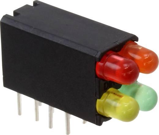 LED-Baustein Rot, Gelb, Orange, Grün (L x B x H) 18.54 x 12.57 x 6.6 mm Dialight 569-0101-372F