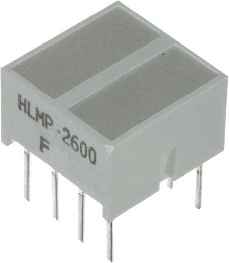 LED-Baustein Rot (L x B x H) 10.28 x 10.16 x 10.16 mm Broadcom HLMP-2600