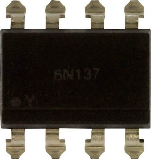 Optokoppler Phototransistor Lite-On 6N137S-TA1 SMD-8 Offener Kollektor DC