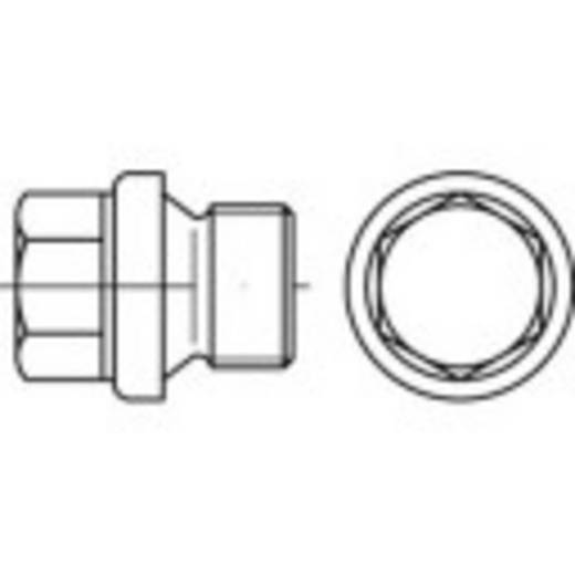 Verschlussschrauben 1/2 Zoll Außensechskant DIN 910 Stahl galvanisch verzinkt 50 St. TOOLCRAFT 112834