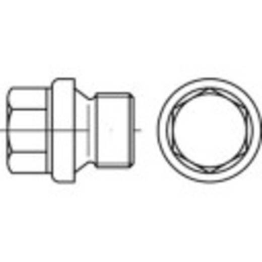 Verschlussschrauben 1/4 Zoll Außensechskant DIN 910 Stahl 100 St. TOOLCRAFT 112797
