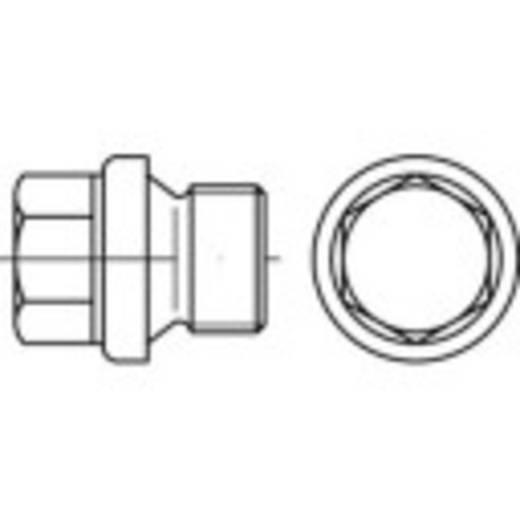 Verschlussschrauben 1/4 Zoll Außensechskant DIN 910 Stahl galvanisch verzinkt 100 St. TOOLCRAFT 112832