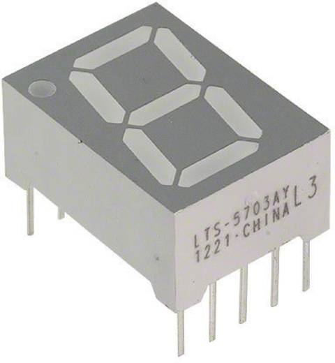 7-Segment-Anzeige Gelb 14.22 mm 2.1 V Ziffernanzahl: 1 Lite-On LTS-5703AY