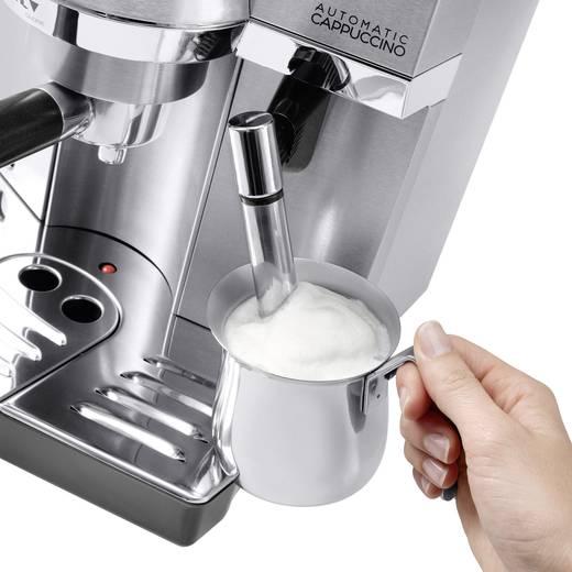 Siebträgermaschine DeLonghi EC 860.M Silber 1450 W mit Milchbehälter, mit Tassenwärmer, E.S.E. Pad kompatibel