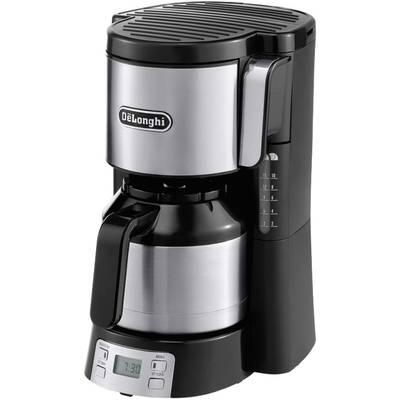 DeLonghi Kaffeemaschine Schwarz/Silber Fassungsvermögen Tassen=10 Isolierkanne, Timerfunkt Preisvergleich