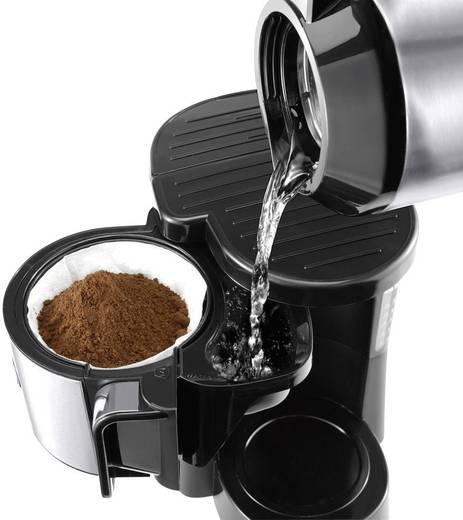 Kaffeemaschine DeLonghi Schwarz/Silber Fassungsvermögen Tassen=10 Isolierkanne, Timerfunktion