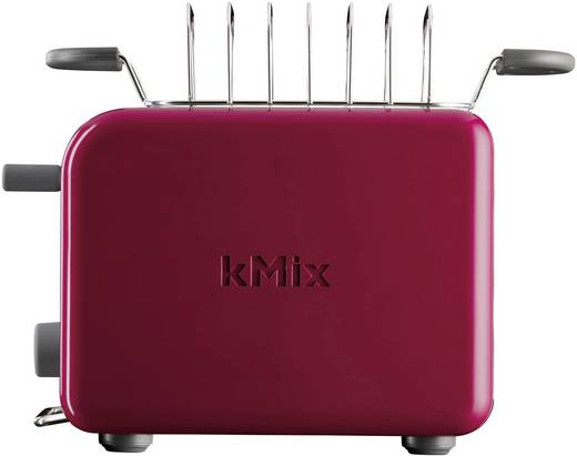 Toaster mit Brötchenaufsatz Kenwood Home Appliance TTM021 kMix Chilirot, Silber