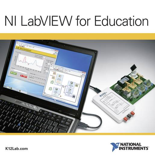 National Instruments LabVIEW for Education - 10 Seat License, German Software