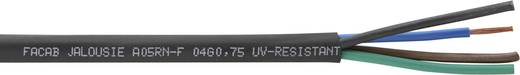 Jalousieleitung A05RN-F 4 x 0.75 mm² Schwarz Faber Kabel 050920 Meterware
