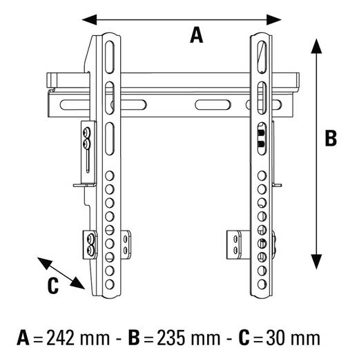 "TV-Wandhalterung 25,4 cm (10"") - 116,8 cm (46"") Starr Hama FIX"