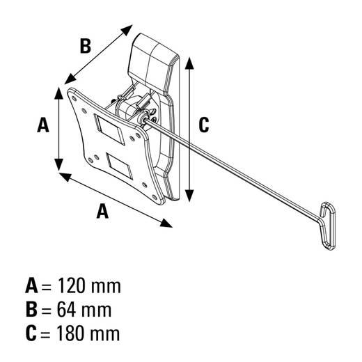 "TV-Wandhalterung 25,4 cm (10"") - 66,0 cm (26"") Neigbar, Rotierbar Hama MOTION"