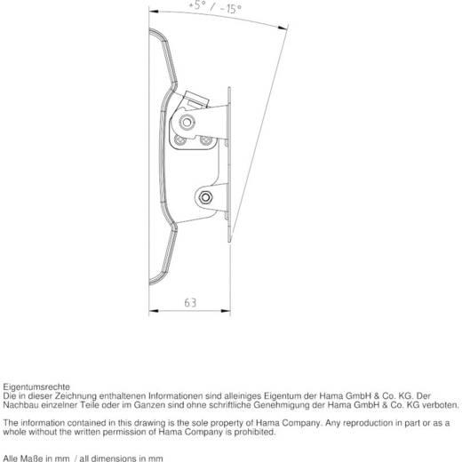 """Hama TV-Wandhalterung MOTION 25,4 - 66 cm (10"""" - 26"""") Weiß"""