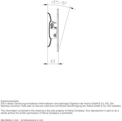 """Hama TV-Wandhalterung MOTION 25,4 - 117 cm (10"""" - 46"""") Schwarz"""